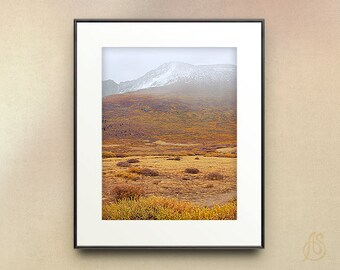 Colorado Mountain Photography // Autumn Fall Colors // Snowy Mountain // Wall Art //   8x10 8x12 11x14
