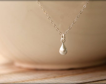 Simple Teardrop Necklace, Available in Sterling Silver, Vermeil, and Rose Gold Vermeil