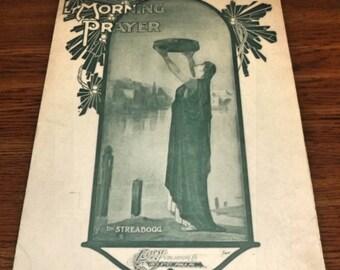 Morning Prayer Sheet Music 1907 Streabbogg