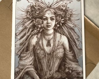 Victorian Fairy, Greeting Card by Renae Taylor