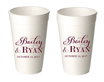 Personalized Styrofoam Cups, Event Cups, Party Cups, Wedding Cups, Beverage Cups
