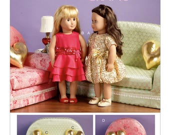 """McCalls 6853 - 18"""" Doll Clothes, Pillow, Chair & Love Seat"""