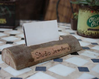 Business Card Holder - Timber Card Holder - Timber Card Stand - Persoanlised