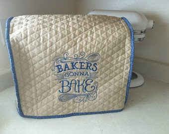 Country Blue Kitchenaid Mixer Cover - Tilt Head Mixer Cover- Lift Bowl Mixer Cover - Mother's Day Gift - Embroidered Kitchen Humor