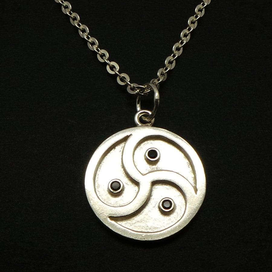 Silver bdsm symbol necklace bdsm jewelry emblem triskelion zoom biocorpaavc Gallery