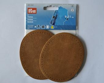 elbow reinforcements soft suede camel/caramel 9x11cm sewing prym 929362