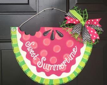 Summer Door Hanger Summer Wreath Summer Door Sign