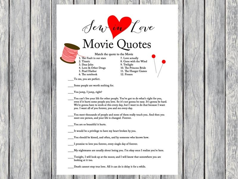 movie quote game movie quiz famous love quote game sew in