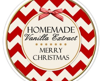 Custom Vanilla Labels or Christmas Canning Labels, Made For You Stickers, Personalized Labels, From The Kitchen Stickers