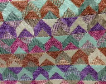 Geometric Arrow Pink, Purple, and Blue Upholstery Fabric - Upholstery Fabric By The Yard