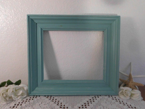 10 x 12 Sea Green Picture Frame Rustic Shabby Chic Distressed Wide ...
