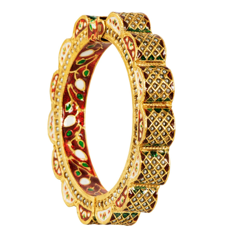 Indian Gold bangle Mughal Jewelry Indian Jewelry Indian
