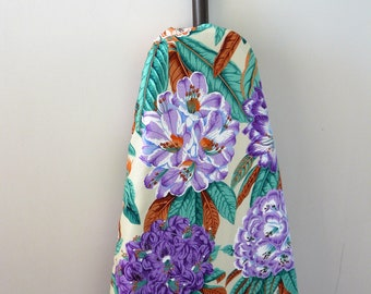Ironing Board Cover - purple and lavender flowers