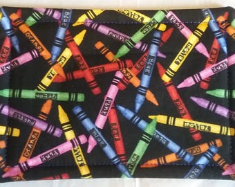 """5"""" x 7"""" Colorful Crayons Rectangle MUG RUG"""