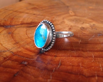Pilot Mountain Turquoise stamped ring size 5.75