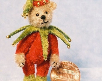 HALF PRICE - Little Elf Bear - Miniature Teddy Bear Kit - Pattern - by Emily Farmer