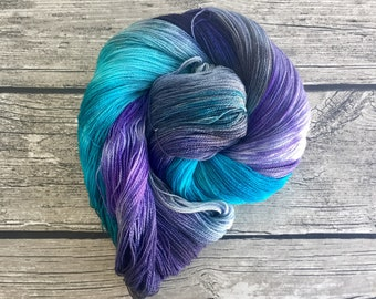 You Can't Take The Sky From Me - Superwash Merino Hand Dyed Yarn - Lace Weight yarn - Hand Dyed Yarn - Hand Dyed Lace Yarn - Indie Dyed Yarn