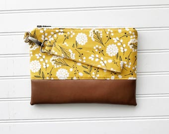 SPRING '18 COLLECTION Mustard Mommy Clutch - Wallet Clutch - Small handbag - Yellow Wristlet - Wallet Clutch