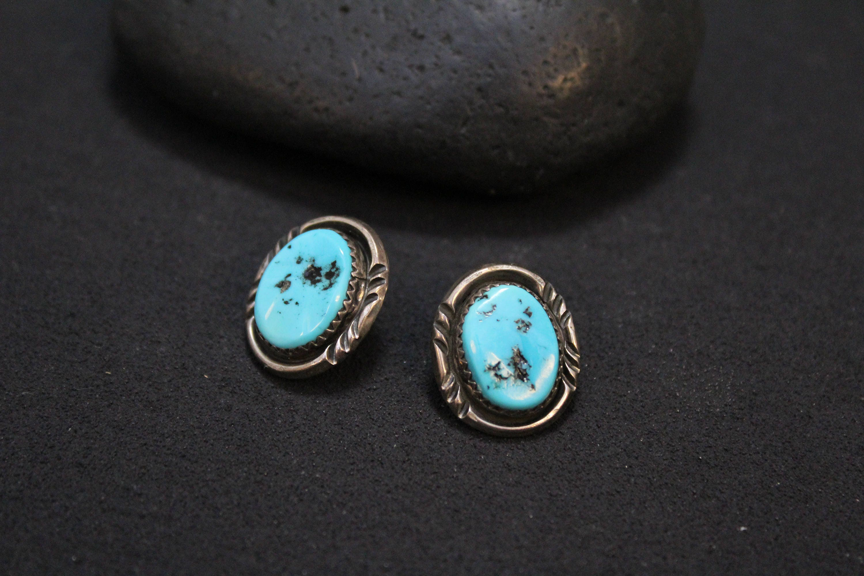sterling earrings silver coloured collections gemstone stud larimar turquoise rare baker franki jewellery