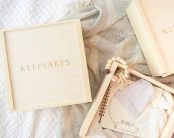 Baby Keepsake Box. Wooden Keepsake Memory Box. Baby Gift Basket. Baby Gift Box. New Baby Gift. Baby Gift Gender Neutral. Engraved Gift Box.