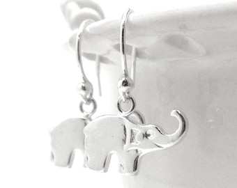 Elephant Earrings, Elephant Jewelry, Elephants, Sterling Silver Jewelry, Sterling Silver Elephant Earrings, Small Elephant Earrings