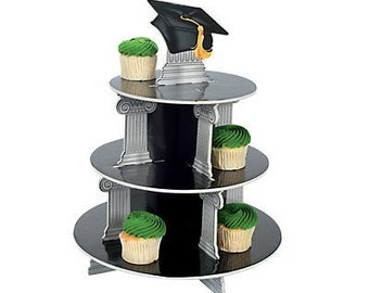 Graduation  Cupcake Display / Graduation /centerpiece /Cupcake stand/cupcake holder