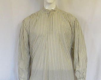 cotton peasant top with stripes