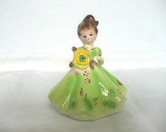 Josef original figurine - Josef Birthday Girl Figurine August - Josef Original August Peridot birthday girl -  August birthday figurine