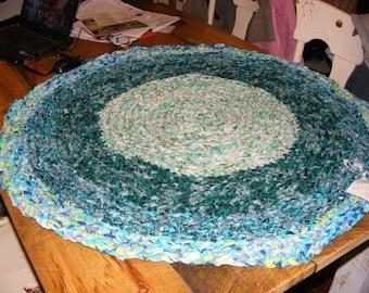 handmade round rag rug