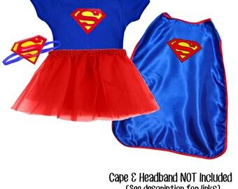 Super Girl Superman Inspired Tutu set - DC Comics Heroin Girl