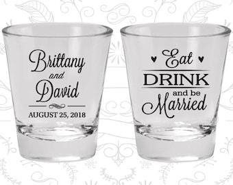 Wedding Shot Glasses, Shot Glasses, Shot Glass, Wedding Favors, Custom Shot Glasses, Personalized Shot Glasses, Custom Shot Glass (C30)