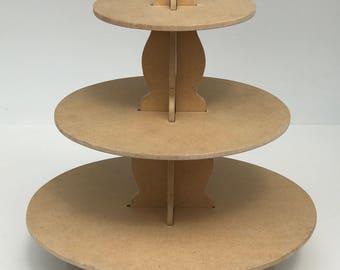 3 Tier Natural Cupcake Stand/Dessert Stand