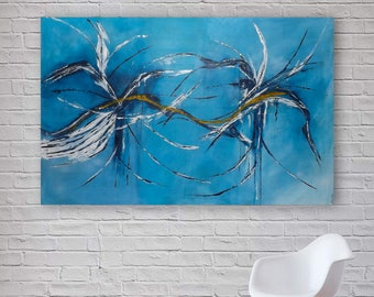 X-Large Original Abstract Painting | Modern Acrylic Art | Canvas Wall Art | 150x100