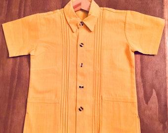 Boys dress shirt. Traditional guayabera