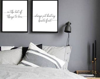 Of All The Thing To Love... Put Beating Hearts First Quote Wall Art