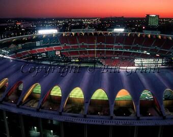 Old Busch Stadium in St. Louis Missouri Photo Art Print