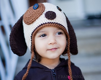 Dog Hat, Baby Dog Hat, newborn hat, Toddler Hat, Winter Hat, Toddler Halloween Costume, Dog Costume