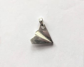 925 Silver pendant  One Direction 1D Harry Styles Paper Airplane pendant  925 Silver Great Gift Birthday Gift for her Gift For Girlfriend