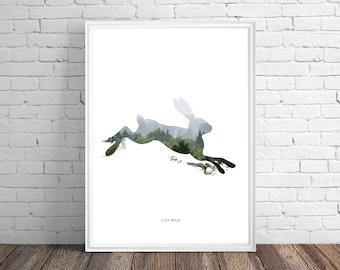 Stay Wild Hare - PRINTED