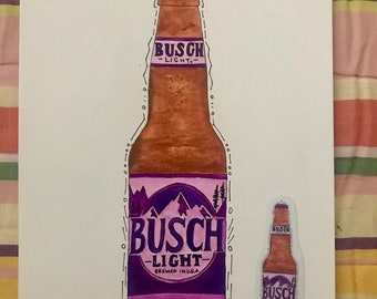 Busch Light No. 3 print