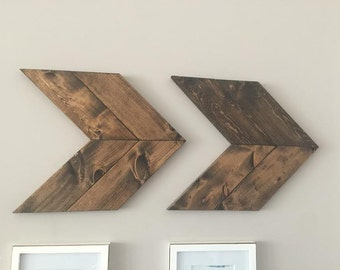 Chevron Arrows, Wall Decor, Arrow Decor, Wood Decor, Wooden Arrows, Rustic Decor, Chevron Wall Art, Arrow Wall Decor, Wooden Arrows, Arrow