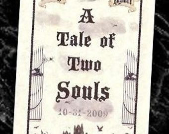 c qty 100 Graveyard Wedding Tale Gothic favors Halloween Programs