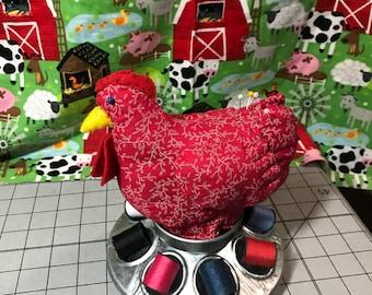 Chicken feeder pincushion