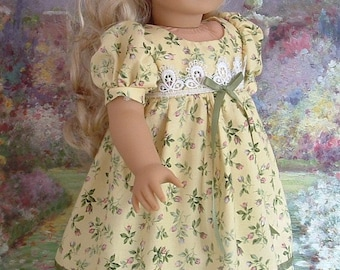 Maize and Roses Day Dress for Caroline