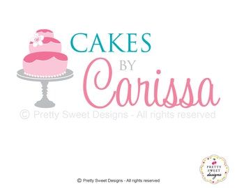 Cake Logo Design, Pink Cake Logo, Sweet Designs And Custom Business Branding For Your Bakery