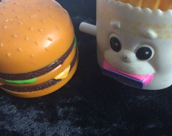 Vintage McDonalds toys Burger and Chips