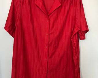 """Vintage Red Sears """"The Comfort Shirt"""""""
