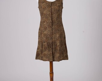 Cheetah Print Dress, Fashion Bug Dress, Vintage Cheetah Print, Leopard Print, Cave Woman Costume, Flinstones Costume, Short Vintage Dress
