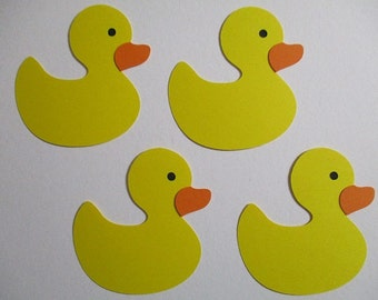 6 Rub a Dub Rubber Duck (3 size options) Theme Decorations, Diecut Cutouts, for Diaper Cake, Centerpiece, Birthday Party, Baby Shower