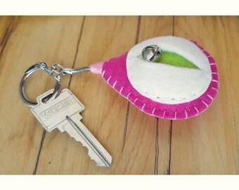 Vagina keychain, vulva keyfob, vag key, lesbian keyring, feminist totem, midwifery gift, doula thank you, obgyn key minder {Bridget Key}